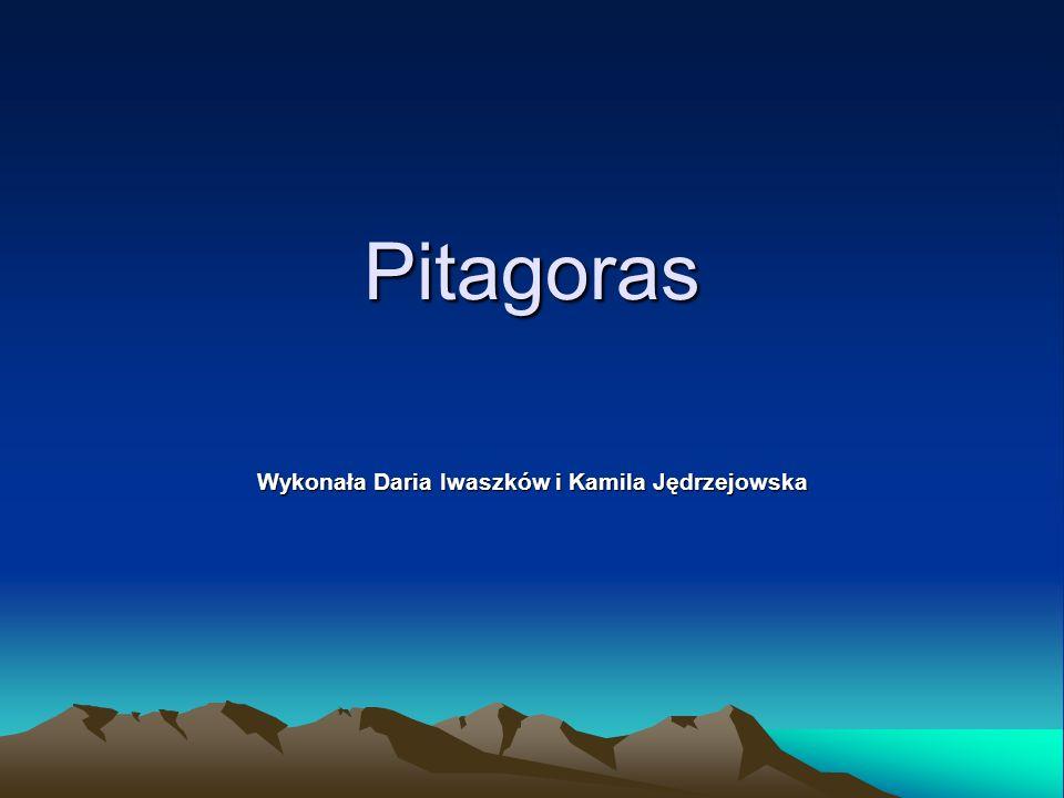 Pitagoras Wykonała Daria Iwaszków i Kamila Jędrzejowska
