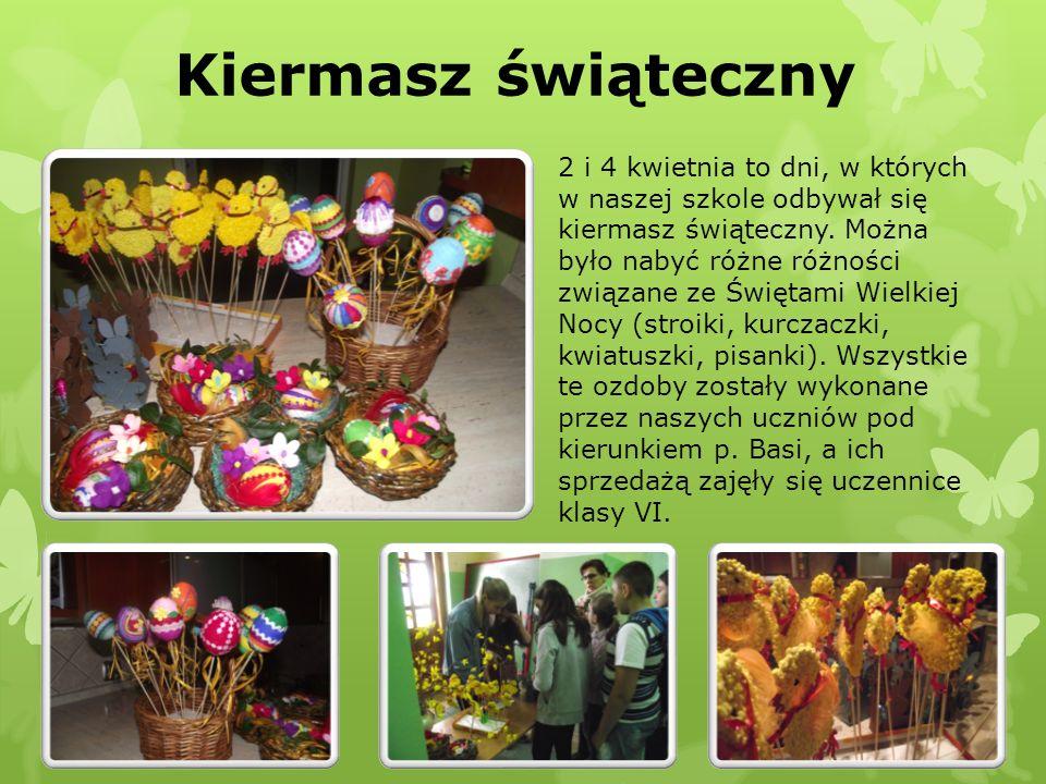 Kiermasz świąteczny 2 i 4 kwietnia to dni, w których w naszej szkole odbywał się kiermasz świąteczny. Można było nabyć różne różności związane ze Świę