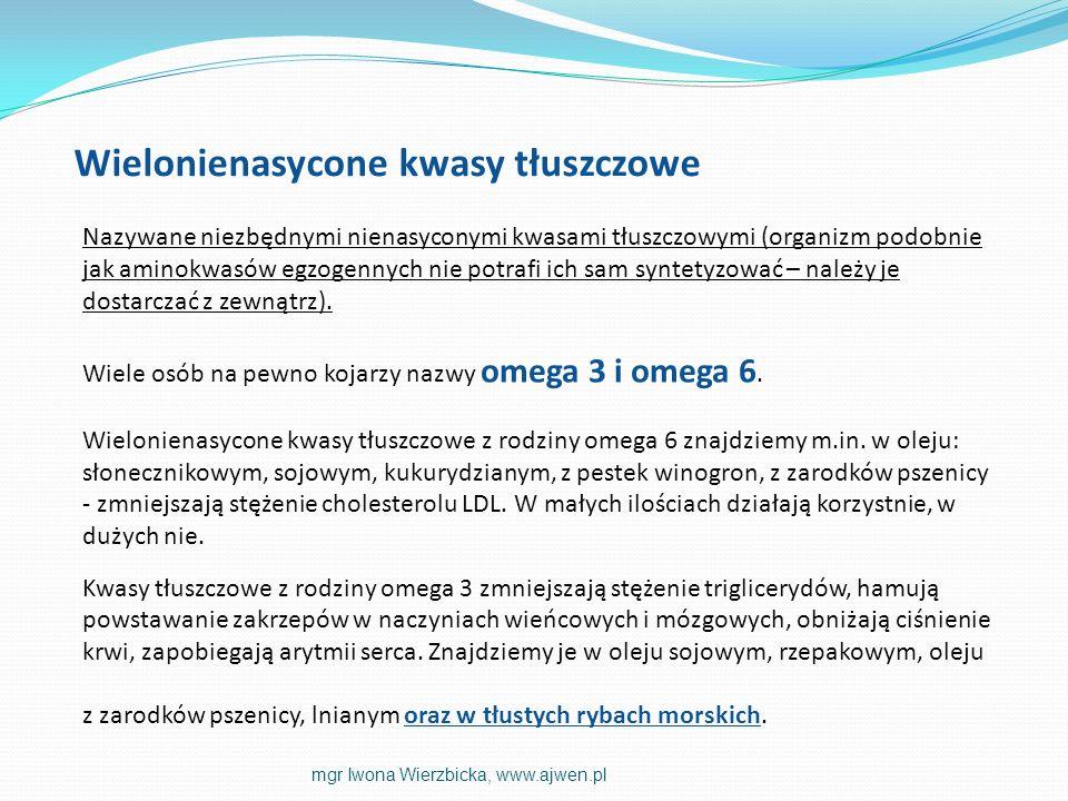 Nazywane niezbędnymi nienasyconymi kwasami tłuszczowymi (organizm podobnie jak aminokwasów egzogennych nie potrafi ich sam syntetyzować – należy je do