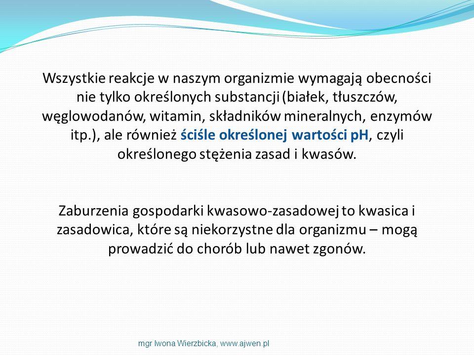 Wszystkie reakcje w naszym organizmie wymagają obecności nie tylko określonych substancji (białek, tłuszczów, węglowodanów, witamin, składników minera