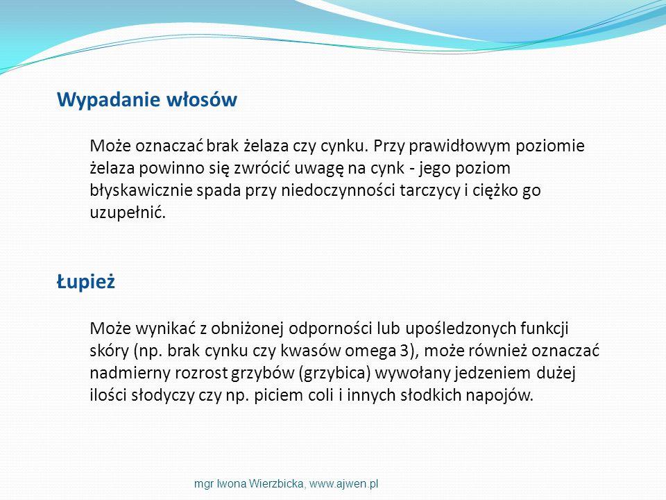 INDEKS GLIKEMICZNY mgr Iwona Wierzbicka, www.ajwen.pl