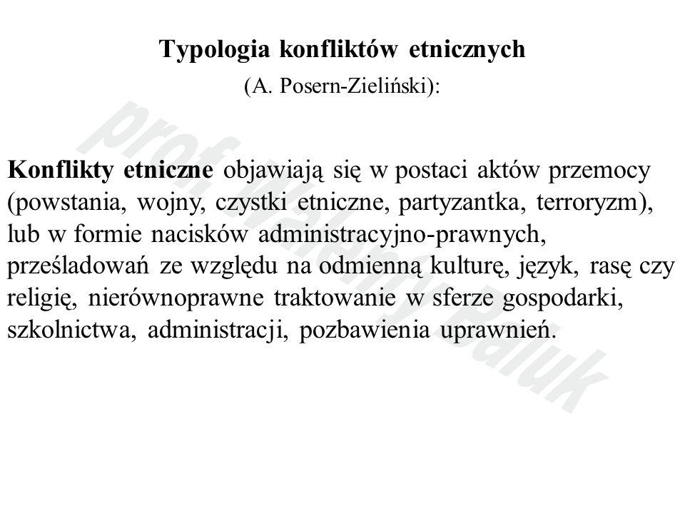 Typologia konfliktów etnicznych (A.