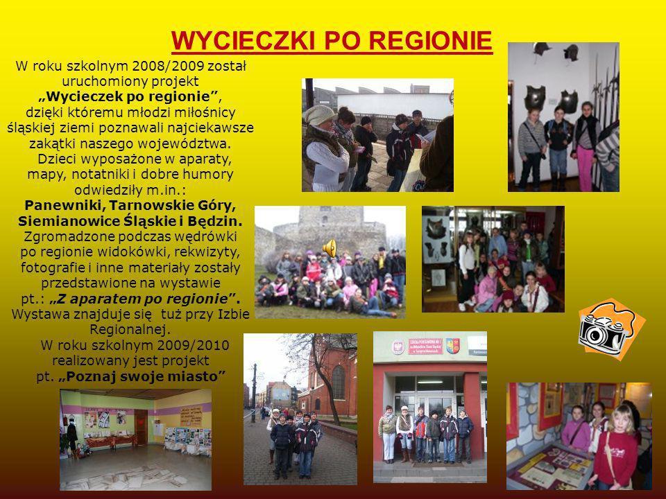 W roku szkolnym 2008/2009 został uruchomiony projekt Wycieczek po regionie, dzięki któremu młodzi miłośnicy śląskiej ziemi poznawali najciekawsze zaką