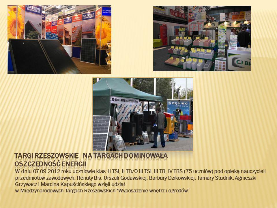 17.10.2012 Klasy 4TL,2TL,1TL uczestniczyły w wycieczce zawodowej zorganizowanej do zakładu produkcyjnego SOLBET.