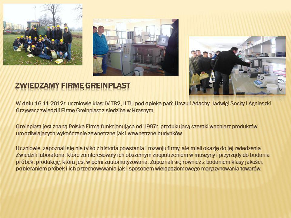 W poniedziałek 19.11.2012r.w naszej szkole odbyło się spotkanie z przedstawicielem firmy Herz.