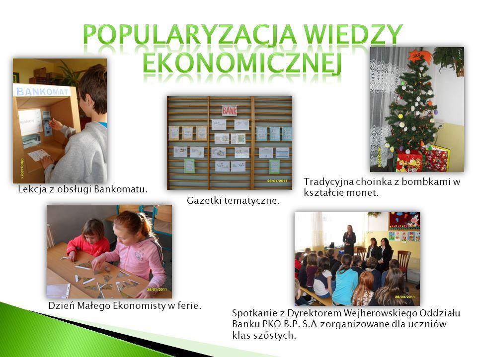 Dzień Małego Ekonomisty w ferie.Lekcja z obsługi Bankomatu.