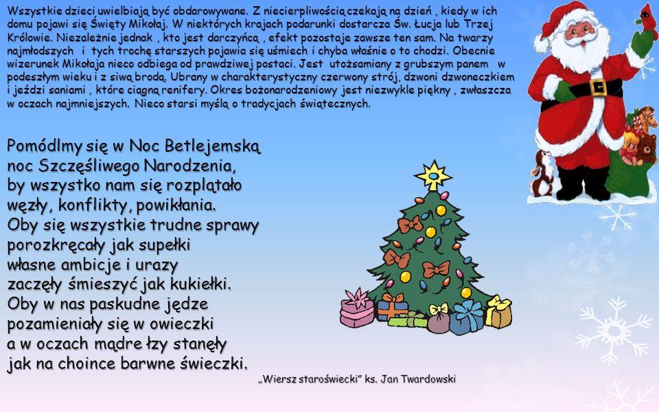 Pomódlmy się w Noc Betlejemską noc Szczęśliwego Narodzenia, by wszystko nam się rozplątało węzły, konflikty, powikłania. Oby się wszystkie trudne spra