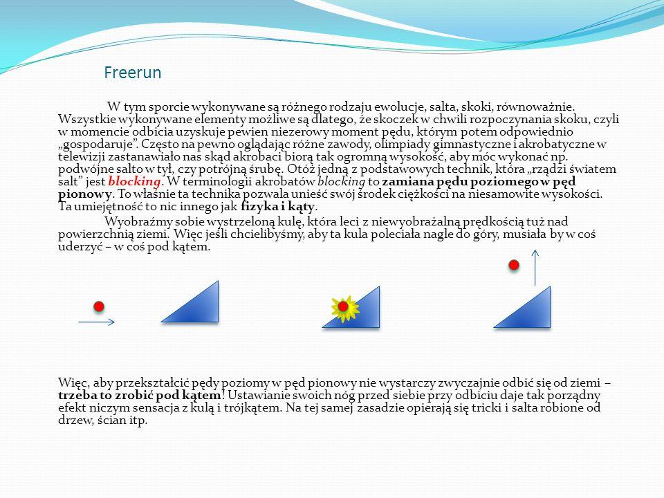 Freerun Kolejną podstawową techniką we freerunie jest tzw.