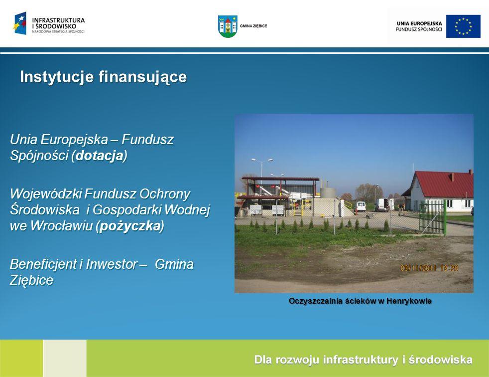 Unia Europejska – Fundusz Spójności (dotacja) Wojewódzki Fundusz Ochrony Środowiska i Gospodarki Wodnej we Wrocławiu (pożyczka) Beneficjent i Inwestor