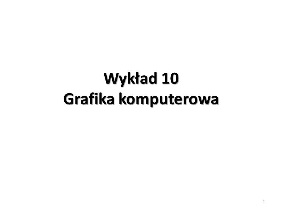 Wykład 10 Grafika komputerowa 1