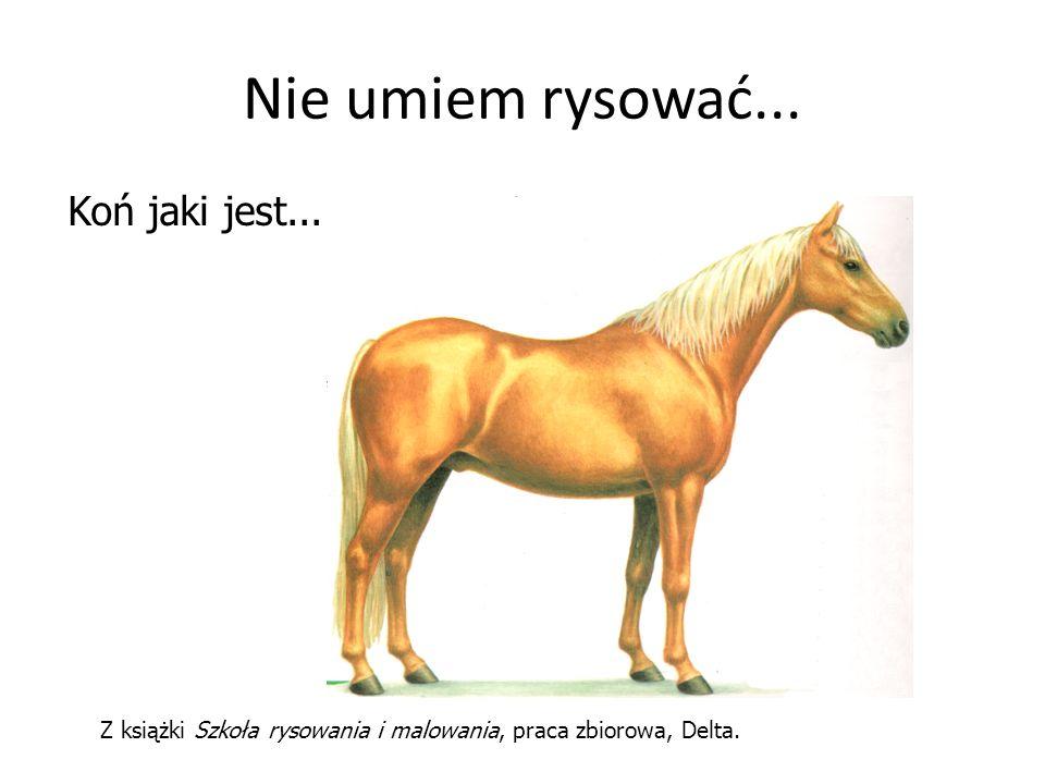 Z książki Szkoła rysowania i malowania, praca zbiorowa, Delta. Nie umiem rysować... Koń jaki jest...