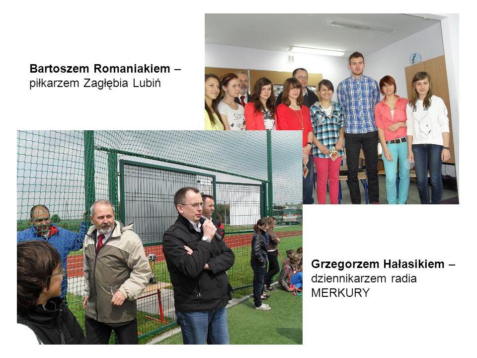Grzegorzem Hałasikiem – dziennikarzem radia MERKURY Bartoszem Romaniakiem – piłkarzem Zagłębia Lubiń