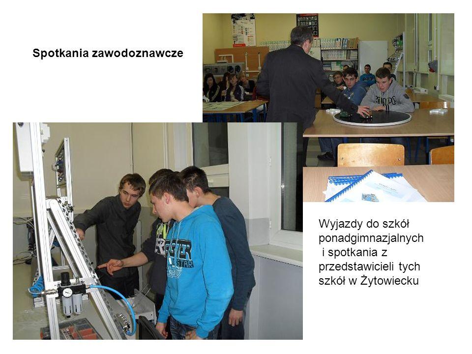 Spotkania zawodoznawcze Wyjazdy do szkół ponadgimnazjalnych i spotkania z przedstawicieli tych szkół w Żytowiecku