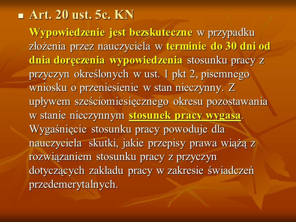 Zgodnie z treścią art. 20 ust. 5 KN okres wypowiedzenia może być skrócony do 1 miesiąca art. 20 ust. 5art. 20 ust. 5 Wypowiedzenie musi odpowiadać wsz