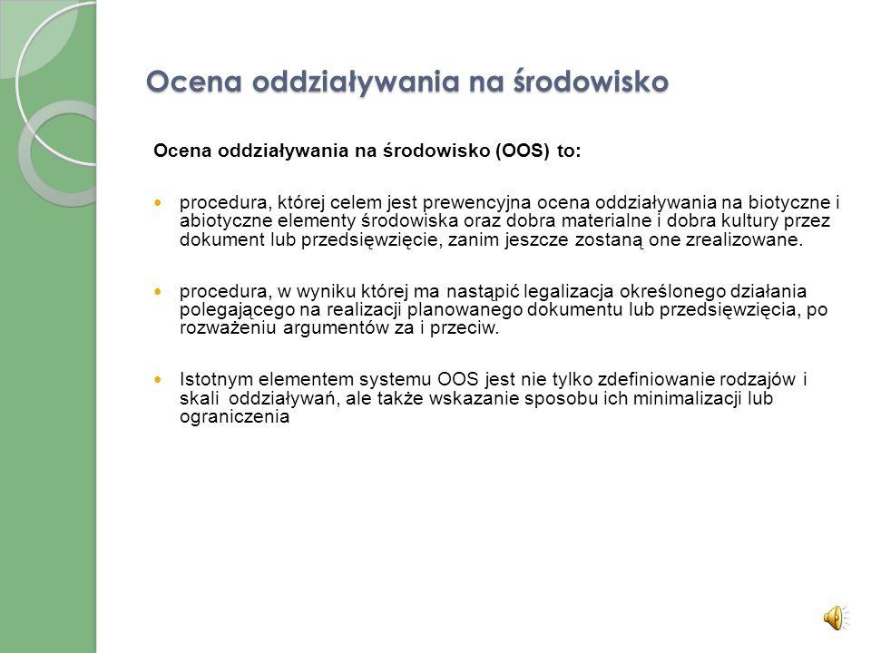 Oceny oddziaływania na środowisko dokumentów strategicznych i planowanych przedsięwzięć
