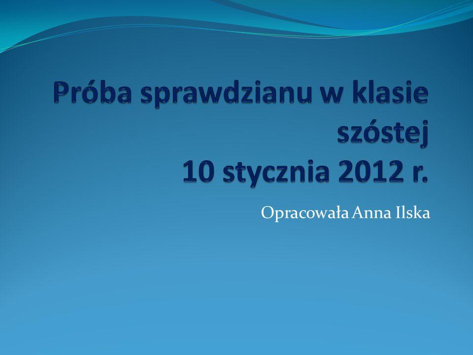 Opracowała Anna Ilska