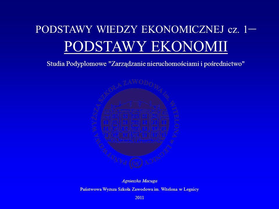 PODSTAWY WIEDZY EKONOMICZNEJ cz.