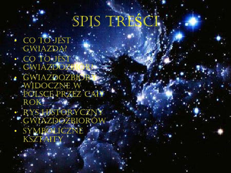 SPIS TRE Ś CI Co to jest gwiazda.Co to jest Gwiazdozbiór.