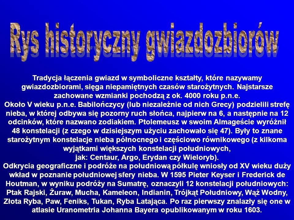 Tradycja łączenia gwiazd w symboliczne kształty, które nazywamy gwiazdozbiorami, sięga niepamiętnych czasów starożytnych.