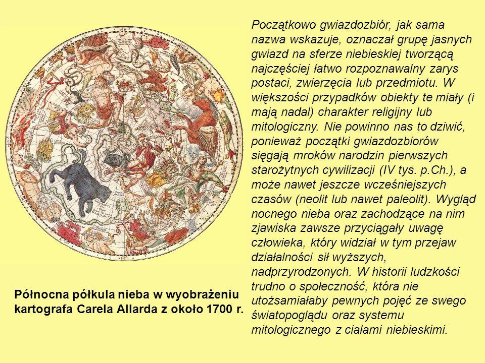Północna półkula nieba w wyobrażeniu kartografa Carela Allarda z około 1700 r.