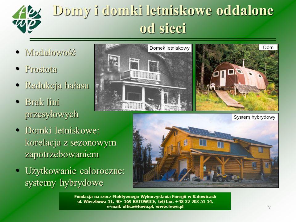 7 Domy i domki letniskowe oddalone od sieci Fundacja na rzecz Efektywnego Wykorzystania Energii w Katowicach ul. Wierzbowa 11, 40- 169 KATOWICE, tel/f