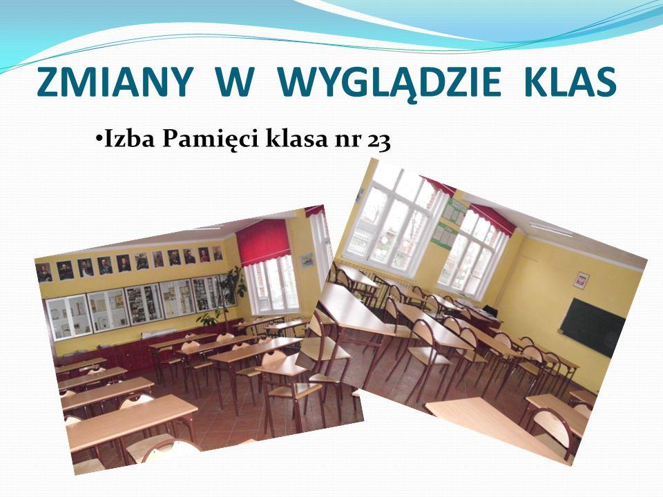 ZMIANY W WYGLĄDZIE KLAS Izba Pamięci klasa nr 23