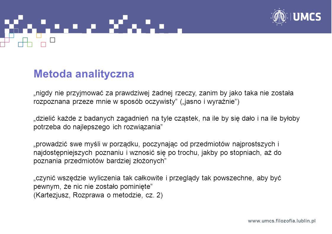 Zagadnienie źródeł poznania – wersja genetyczna (psychologiczna) www.umcs.filozofia.lublin.pl Jaka jest geneza naszych pojęć, sądów i myśli w ogóle.