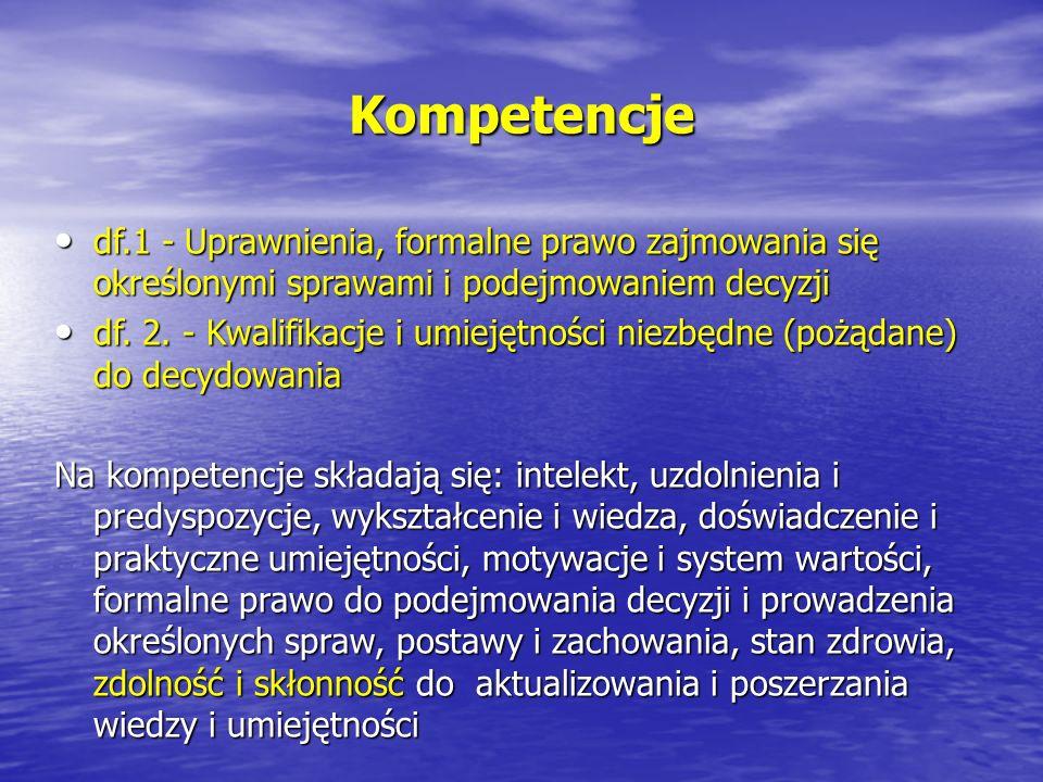 df.1 - Uprawnienia, formalne prawo zajmowania się określonymi sprawami i podejmowaniem decyzji df.1 - Uprawnienia, formalne prawo zajmowania się okreś