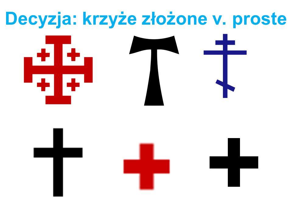 Decyzja: krzyże złożone v. proste