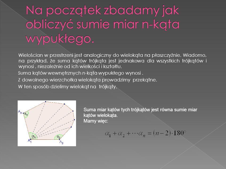 Kąt dwuścienny.Dwie półpłaszczyzny o wspólnej krawędzi dzielą przestrzeń na dwie części.