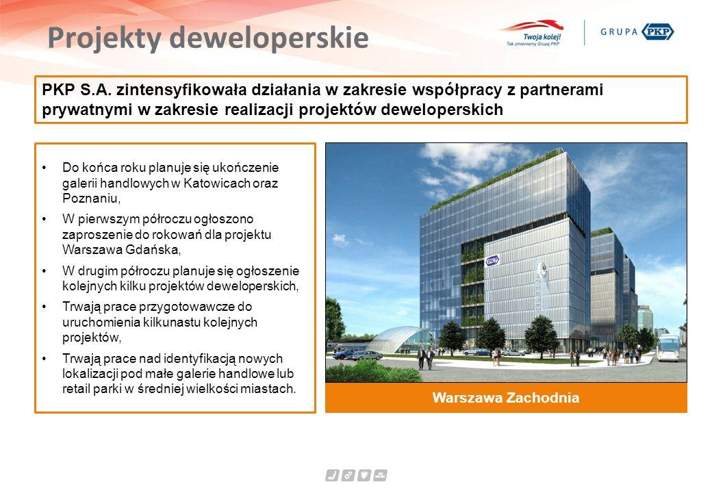 Projekty deweloperskie PKP S.A. zintensyfikowała działania w zakresie współpracy z partnerami prywatnymi w zakresie realizacji projektów deweloperskic