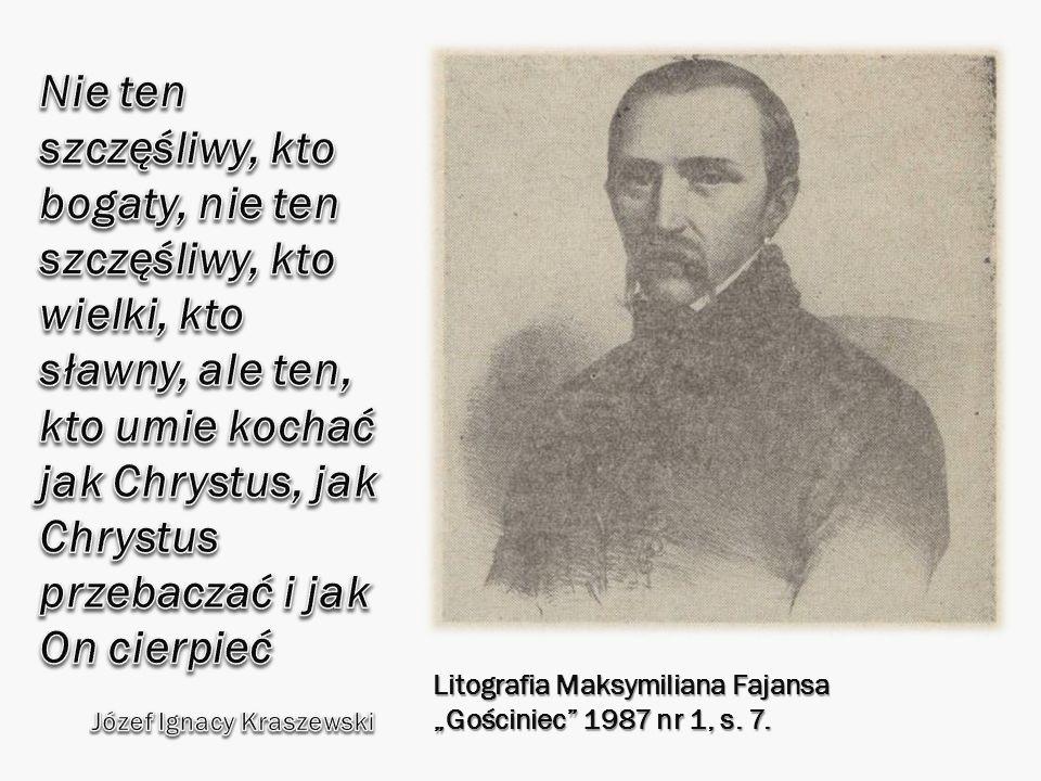 Litografia Maksymiliana Fajansa Gościniec 1987 nr 1, s. 7.