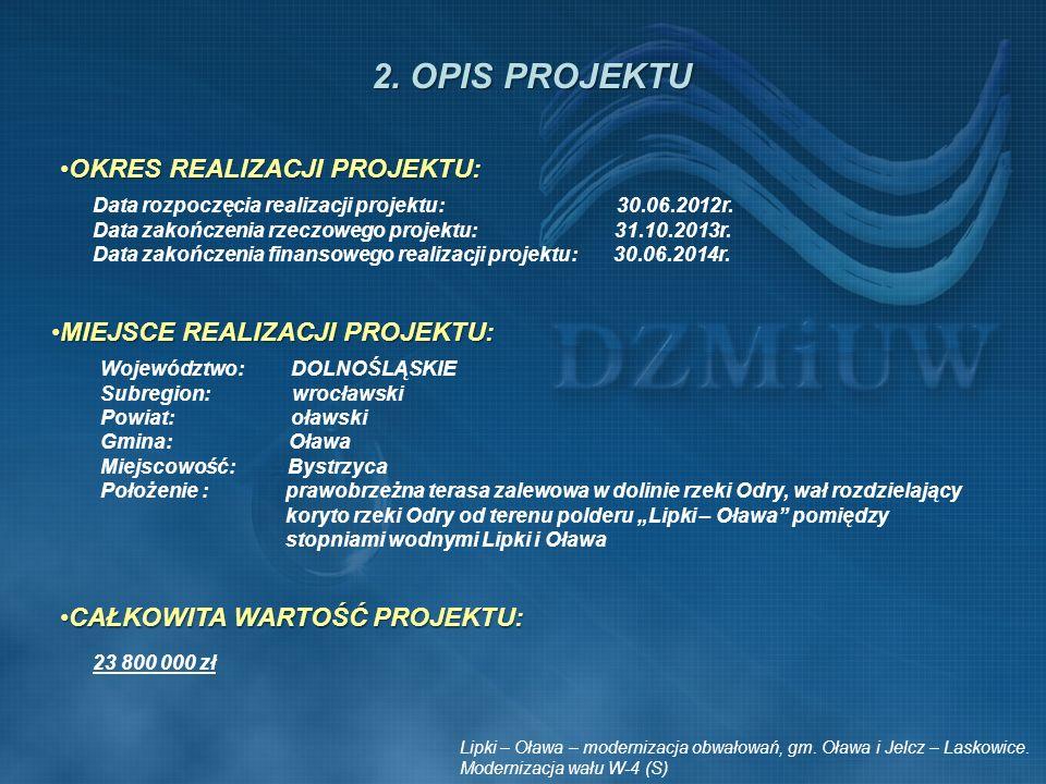 Miejsce realizacji projektu MAPA ORIENTACYJNA Lipki – Oława – modernizacja obwałowań, gm.