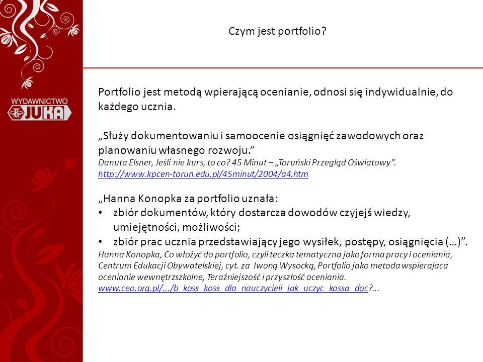 Czym jest portfolio.