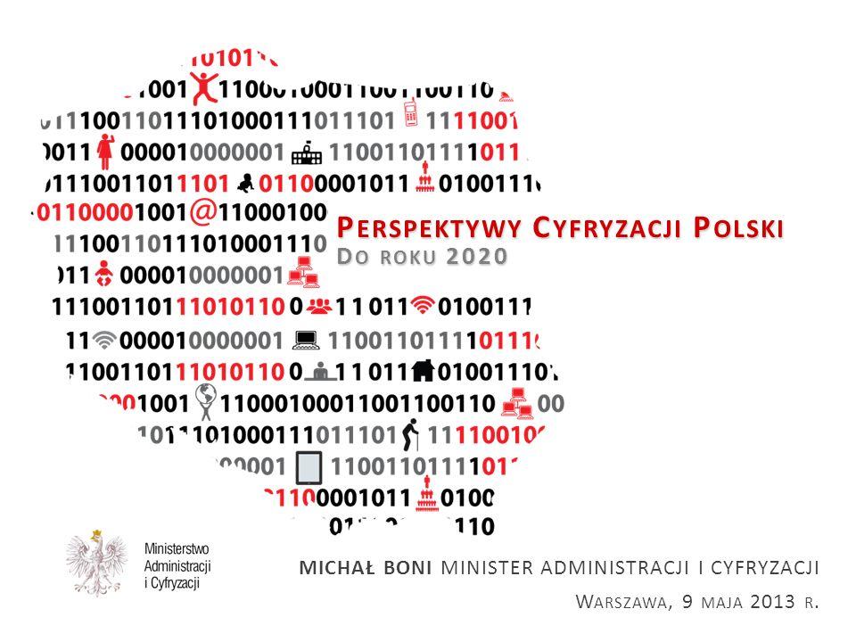 BEZPOSREDNIE I POŚREDNIE WSPARCIE PRZEDSIĘBIORCÓW W PO POLSKA CYFROWA (1) budowa i modernizacja sieci i infrastruktury telekomunikacyjnej zapewniających szerokopasmowy dostęp do internetu o przepływności powyżej 30 Mb/s (100% pokrycia w 2020r) wysokiej jakości, powszechnie dostępne e-usługi publiczne – wdrażane w oparciu o listę e-usług w PZIP, w tym dot.