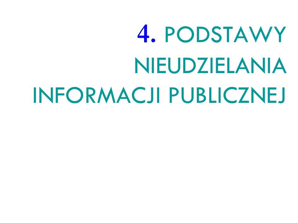 4. PODSTAWY NIEUDZIELANIA INFORMACJI PUBLICZNEJ