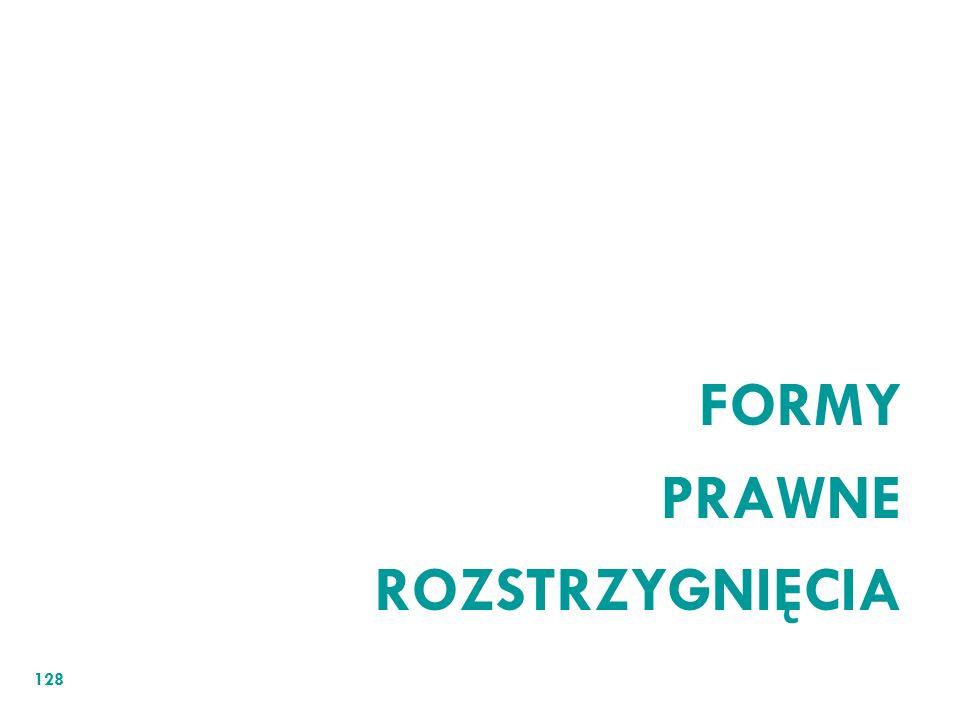 FORMY PRAWNE ROZSTRZYGNIĘCIA 128