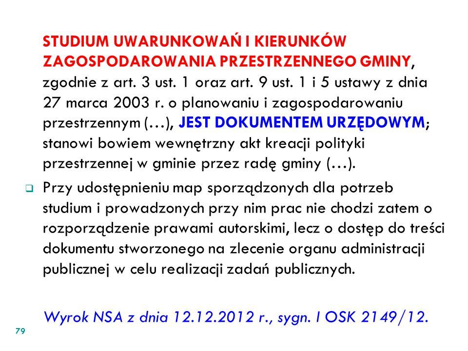 STUDIUM UWARUNKOWAŃ I KIERUNKÓW ZAGOSPODAROWANIA PRZESTRZENNEGO GMINY, zgodnie z art. 3 ust. 1 oraz art. 9 ust. 1 i 5 ustawy z dnia 27 marca 2003 r. o