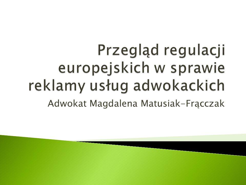 Adwokat Magdalena Matusiak-Frącczak