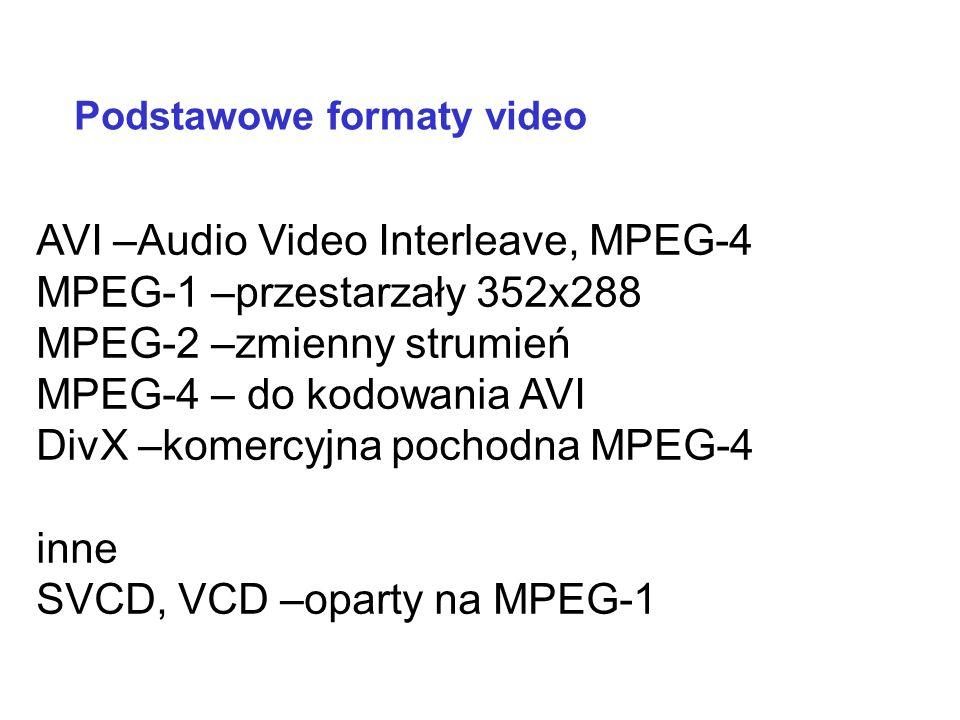 WMA –Windows Media Audio. Utwór przy kompresji 64 Kb/s zajmuje połowę miejsca w porównaniu z MP3 przy strumieniu 128 b/s. Porównywalna jakość AAC, MPC