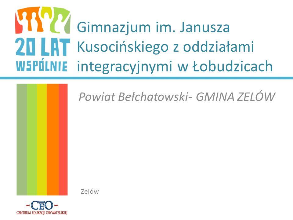 Gimnazjum im. Janusza Kusocińskiego z oddziałami integracyjnymi w Łobudzicach Powiat Bełchatowski-GMINA ZELÓW Zelów