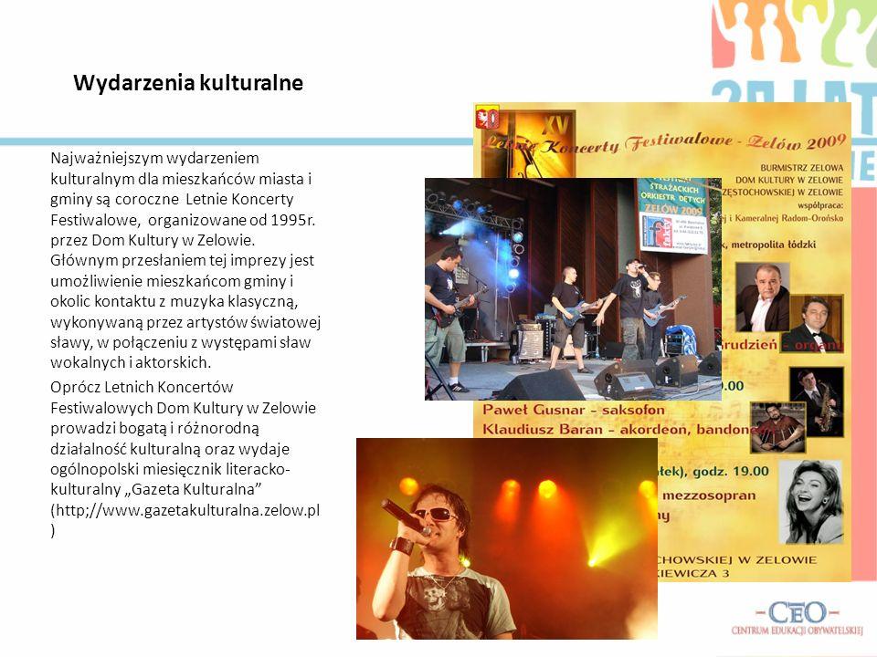 Wydarzenia kulturalne Najważniejszym wydarzeniem kulturalnym dla mieszkańców miasta i gminy są coroczne Letnie Koncerty Festiwalowe, organizowane od 1