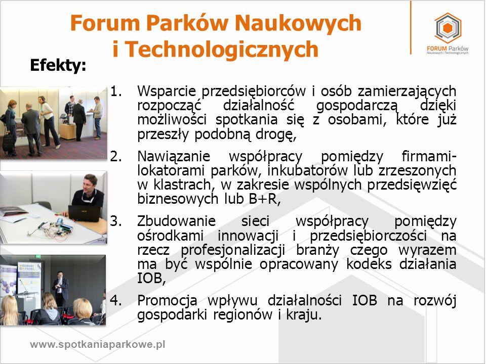 www.spotkaniaparkowe.pl 1.Wsparcie przedsiębiorców i osób zamierzających rozpocząć działalność gospodarczą dzięki możliwości spotkania się z osobami,