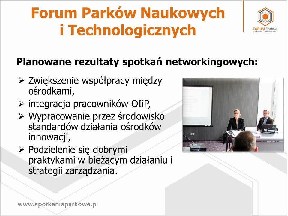 www.spotkaniaparkowe.pl Planowane rezultaty spotkań networkingowych: Zwiększenie współpracy między ośrodkami, integracja pracowników OIiP, Wypracowani