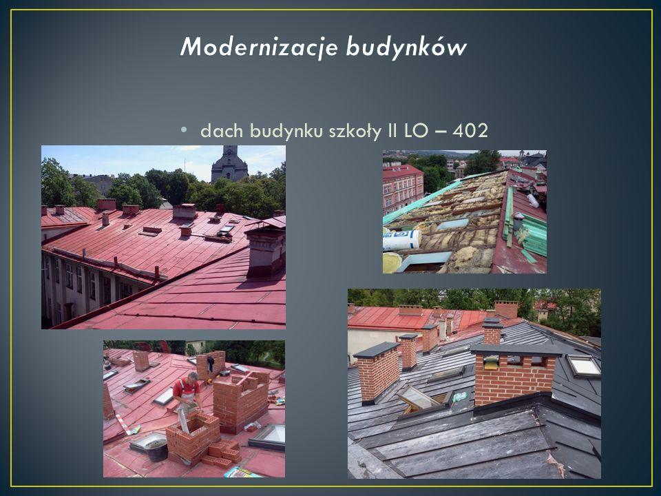 dach budynku szkoły II LO – 402