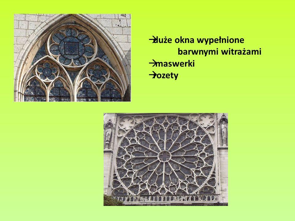 Maswerk o prostej konstrukcji – okno kościoła w Moret-sur-Lonig niedaleko Paryża