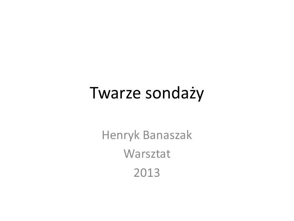 Twarze sondaży Henryk Banaszak Warsztat 2013
