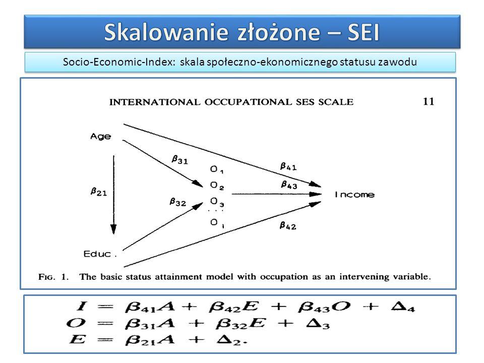 Socio-Economic-Index: skala społeczno-ekonomicznego statusu zawodu