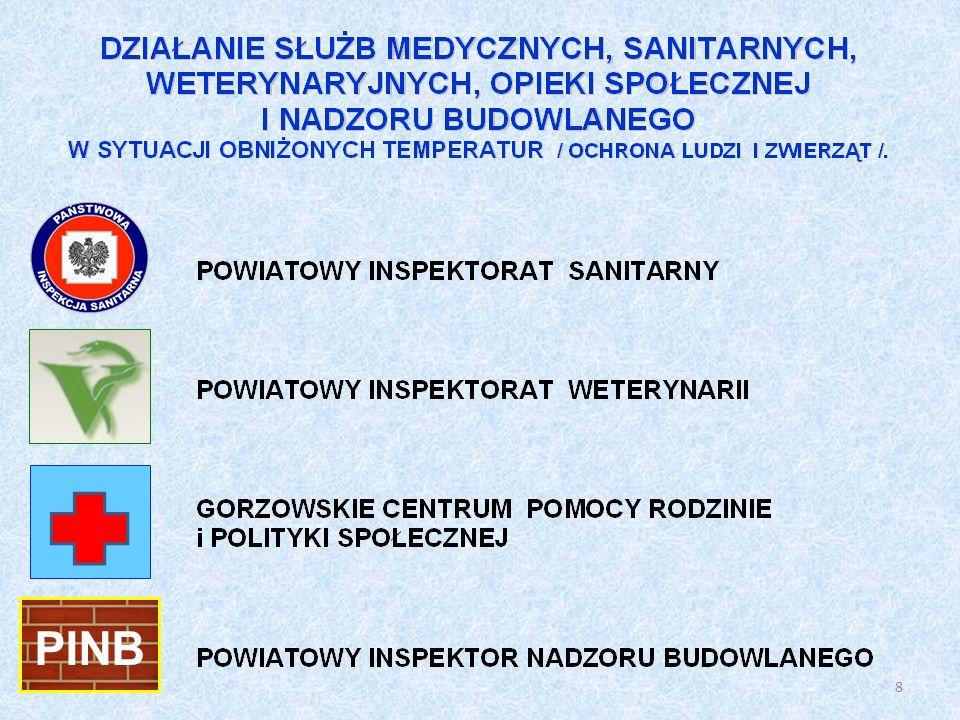 W celu zapewnienie systemu wczesnego powiadamiania o zagrożeniu epidemicznym prowadzona jest ścisła współpraca z następującymi instytucjami: placówkami medycznymi otwartej i zamkniętej opieki medycznej; Wojewódzką Stacją Sanitarno-Epidemiologiczną w Gorzowie Wlkp.; Inspekcją Weterynaryjną; Wydziałem Zarządzania Kryzysowego.
