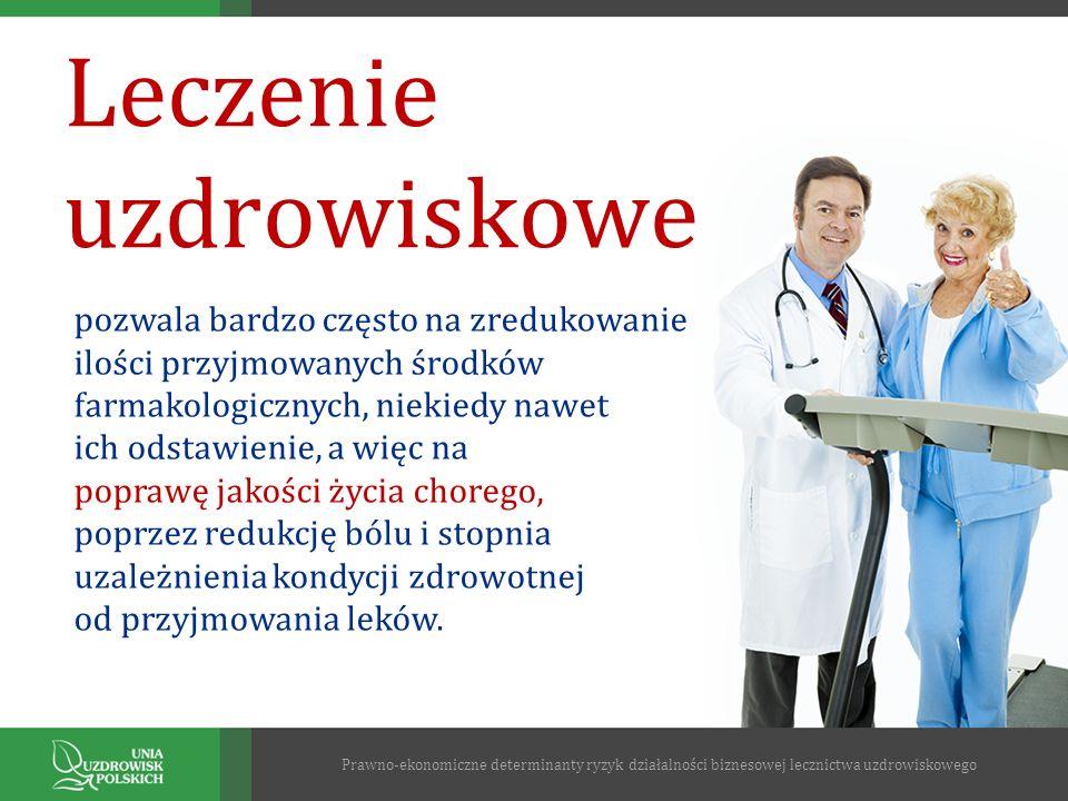 Leczenie uzdrowiskowe pozwala bardzo często na zredukowanie ilości przyjmowanych środków farmakologicznych, niekiedy nawet ich odstawienie, a więc na
